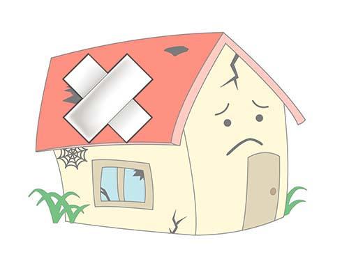 傷んだ家の画像